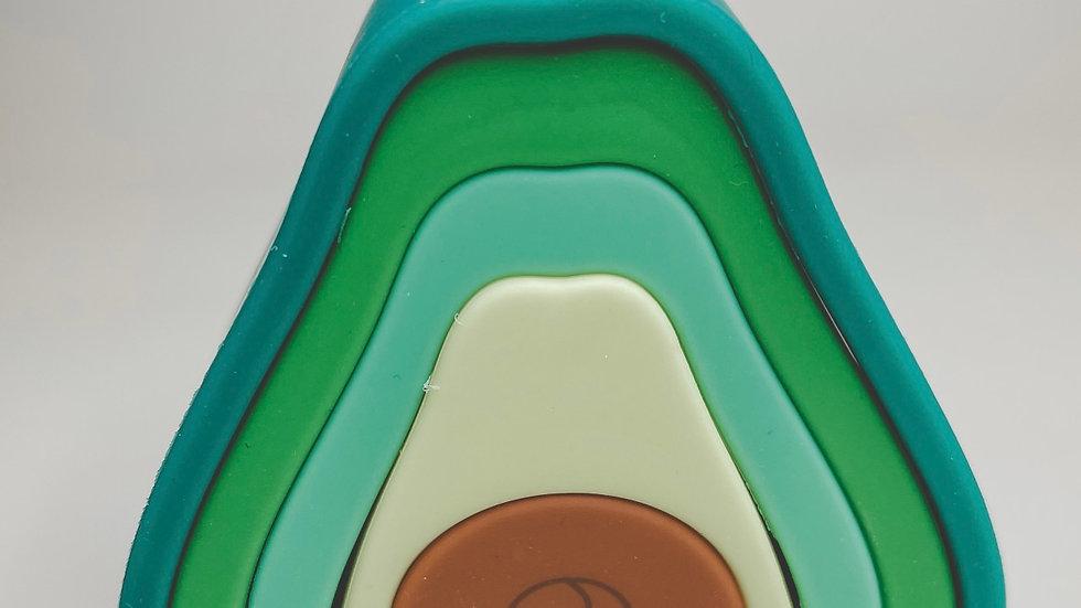 Avocado silicone stacking toy