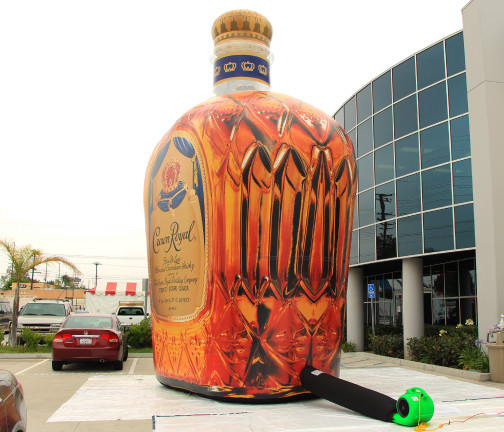Replica Inflatables: 25 Foot Crown Royal Bottle Side View