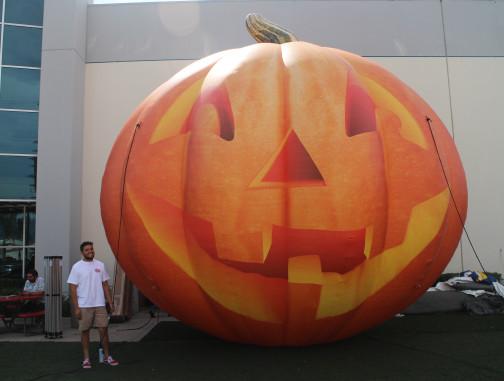 Custom Inflatables: Pumpkin Jack O' Lantern Front View