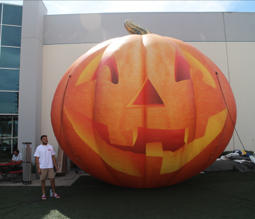 Custom Inflatables: Pumpkin Jack O' Lantern Front View