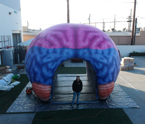 Replica Inflatables: 22'x22' Brain Tunnel Front View
