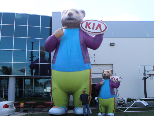 Inflatable Characters: KIA Hamster 30 foot and 10 foot