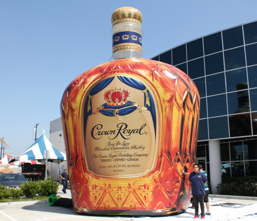 Replica Inflatables: 25 Foot Crown Royal Bottle Front View