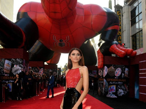 Custom Inflatables: 80 Foot Spider-Man Front View with Zendaya