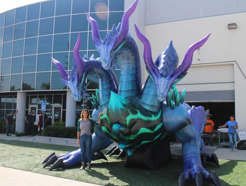 Custom Inflatables: Dragon Hydra Angle View
