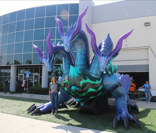 Custom Inflatables: Dragon Hydra Angle View