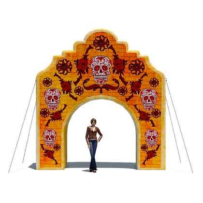 Inflatable Day of the Dead Arch