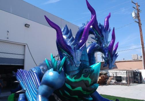 Custom Inflatables: Dragon Hydra Close-up