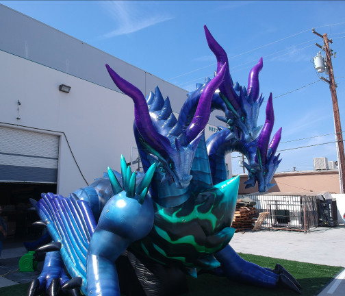 Custom Inflatables: Dragon Hydra Close-up