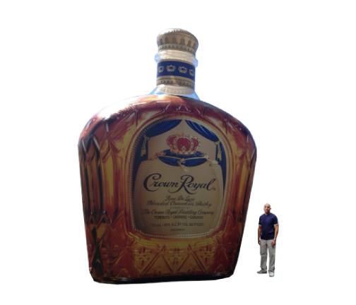 Replica Inflatables: 25 Foot Crown Royal Whiskey Bottle