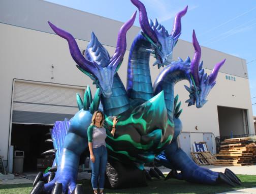 Custom Inflatables: Dragon Hydra Angle