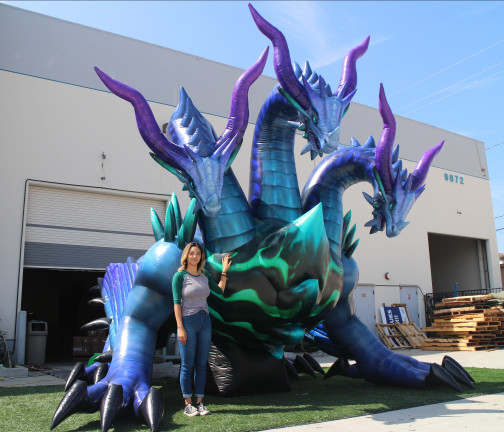 Custom Inflatables: Dragon Hydra Angle