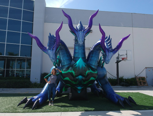 Custom Inflatables: Dragon Hydra Front View