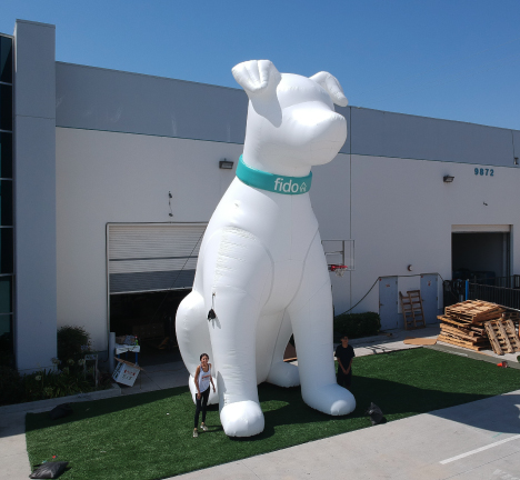 Custom-Inflatable-Fido-Dog 25 feet