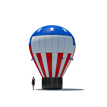 Patriotic Inflatable Hot Air Balloon Shape