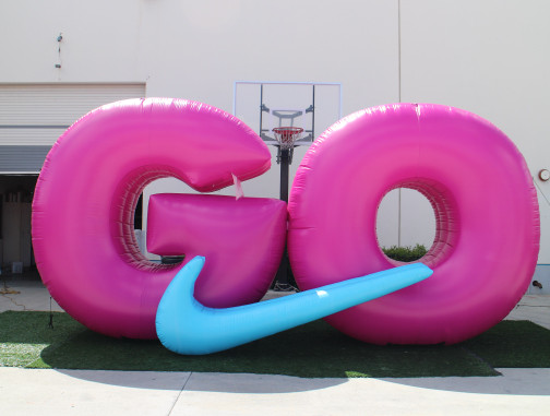 Replica Inflatables: Nike GO Logo Front