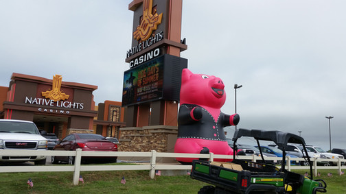 15' Native Lights Casino Pig