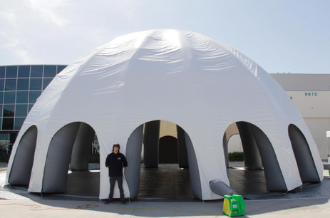 Inflatable Domes - White and Gray Spider Dome