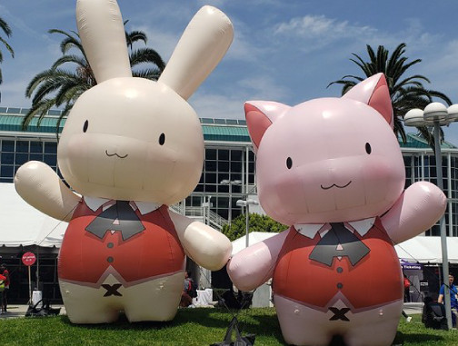 Inflatable Characters: Anime Expo Cat and Bunny Figures