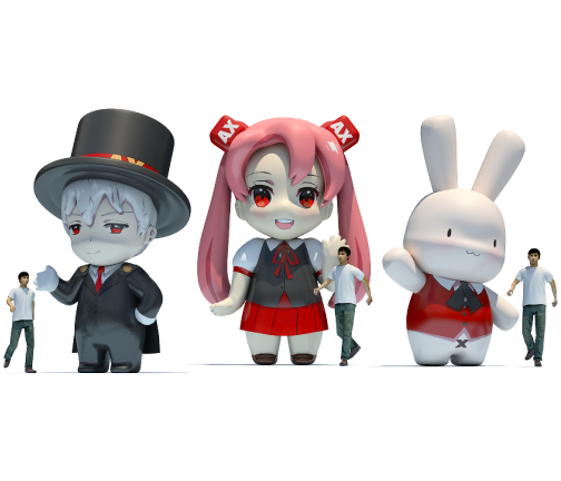 Inflatable Characters: Anime Expo Figures Rendering