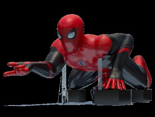 Custom Inflatables: 80 Foot Spider-Man Rendering
