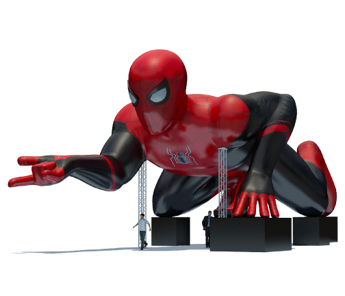 Custom Inflatables: 80 Foot Spider-Man Rendering