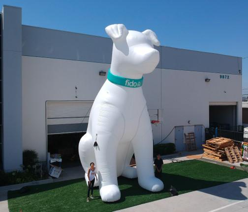 Replica Inflatables: 25 foot Fido Dog