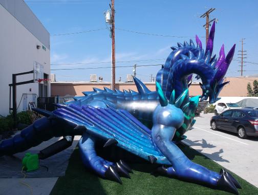 Custom Inflatables: Dragon Hydra Side