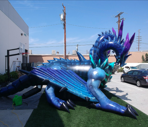 Custom Inflatables: Dragon Hydra Side