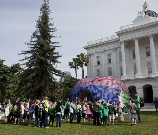Replica Inflatables: 22'x22' Brain Tunnel Government Building