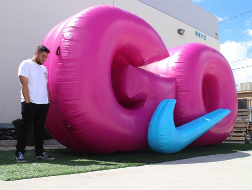 Replica Inflatables: Nike GO Logo Angle