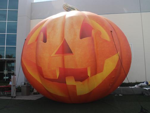 Custom Inflatables: Pumpkin Jack O' Lantern Angle