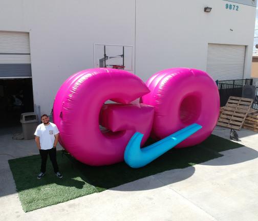 Replica Inflatables: Nike GO Logo Aerial