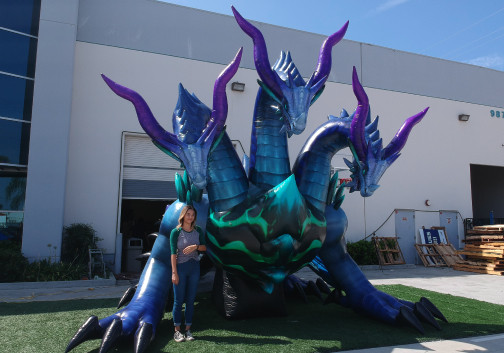 Custom Inflatables: Dragon Hydra Ground View
