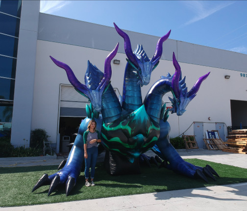 Custom Inflatables: Dragon Hydra Ground View