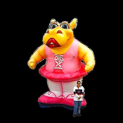 Inflatable Hippo (Ballerina)
