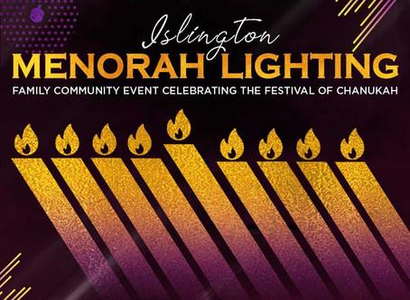 Islington Menorah Lighting 2019