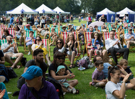 The community comes together to the sound of klezmer music at the third Big Jewish Summer Fete