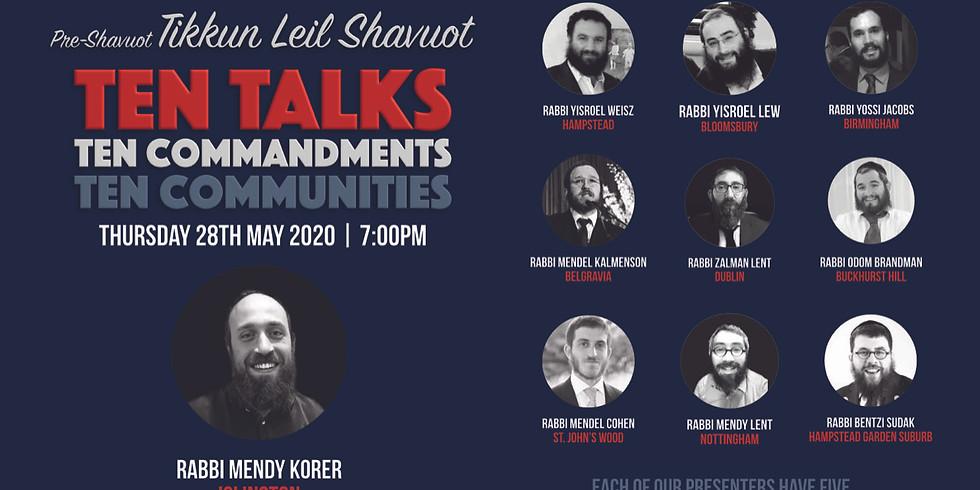 Pre-Shavuot Ten Talks