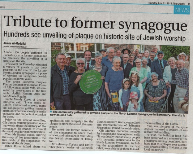 Plaque unveiling in the news