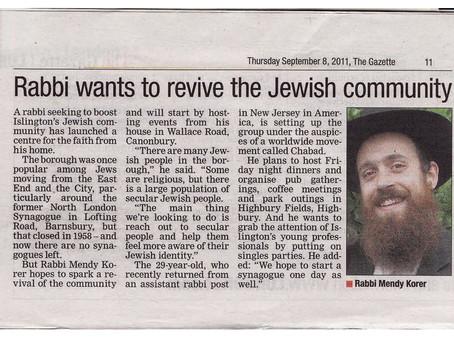 Chabad Islington in Islington Gazette