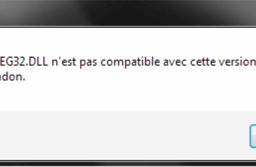 Erreur avec le fichier jwjpeg32.dll