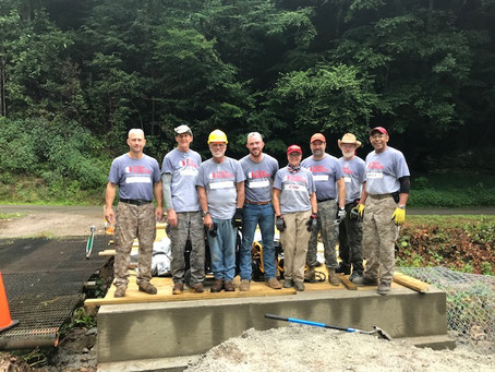 Veterans Group Assists in Building Bridge for Clay County Family