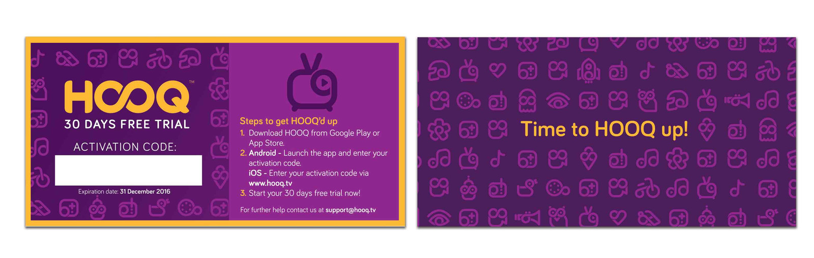 home | HOOQ marketing promotion items
