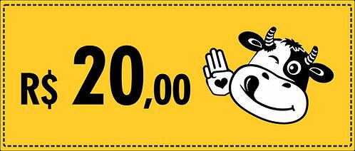 Cupom R$ 20,00