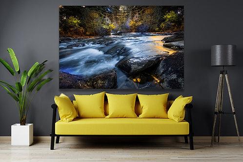 Cherry Creek Resvouir colorful blending background Wall Art Canvas