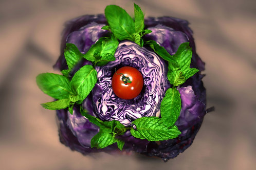 Cabbage Flower Fine Art_Food Photography