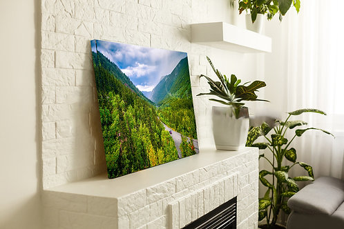 The Sloap of Mountain Tree Line In George Town in Colorado Wall Art Canvas 20x16