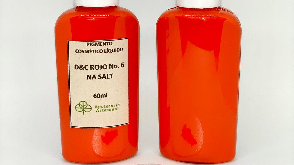 D&C Rojo No. 6 NA SALT, líquido