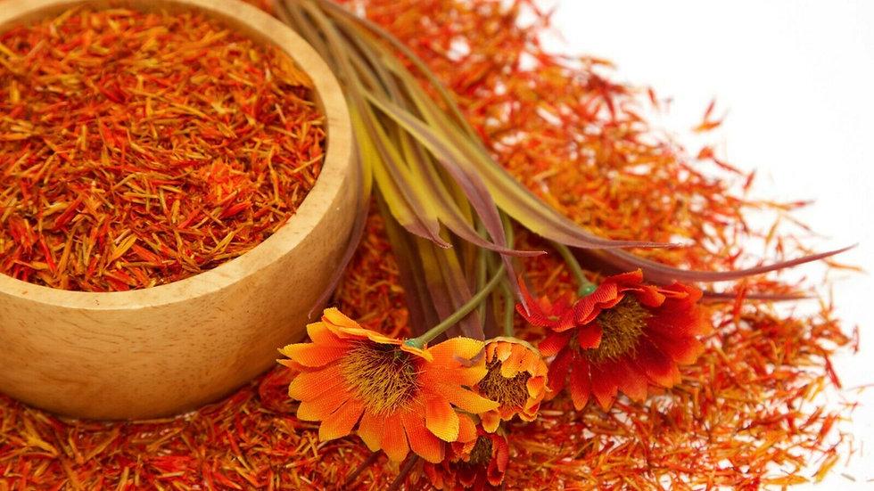 Flores secas de Cártamo